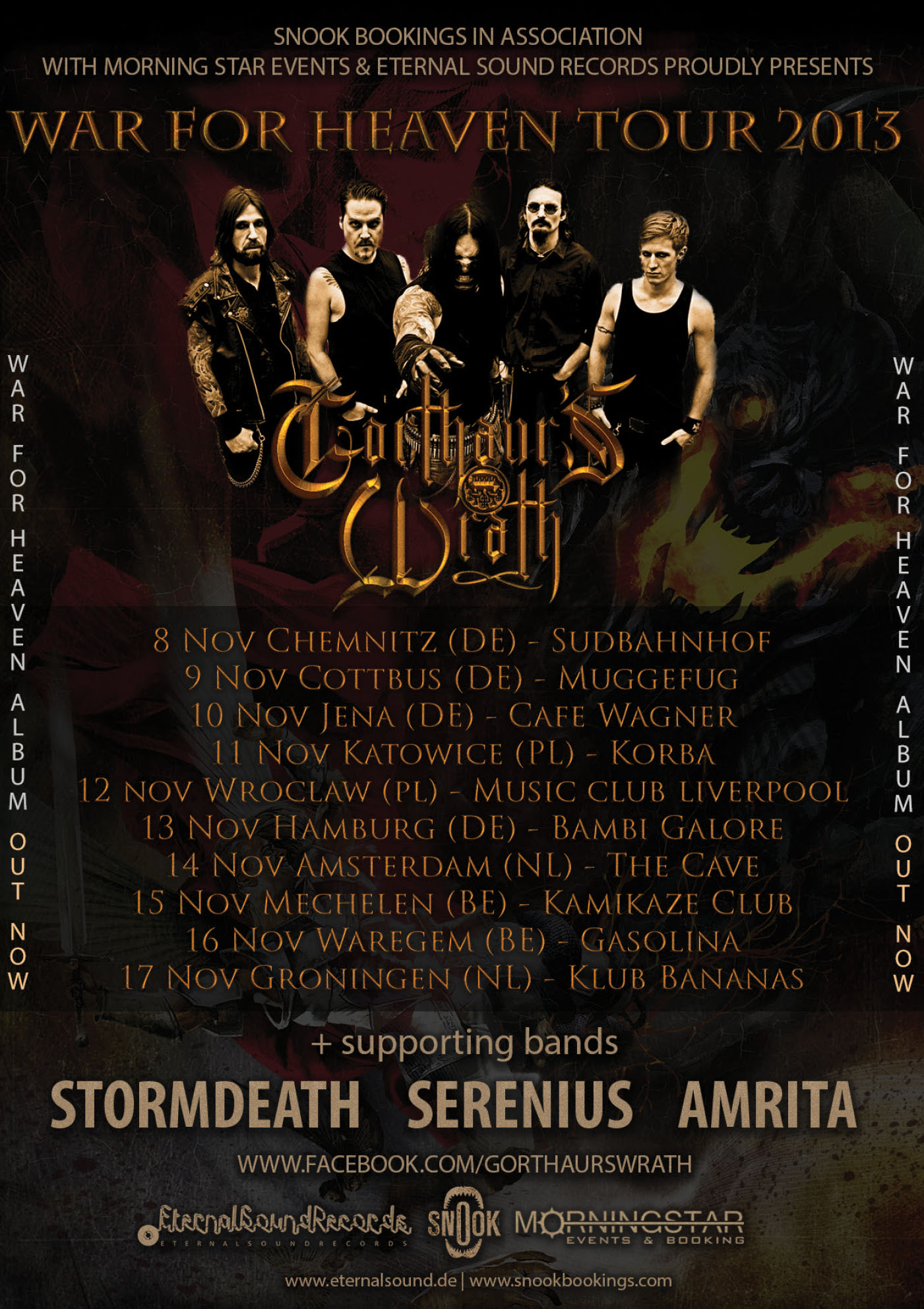 Gorthaur´s Wrath flyer | Flyer design for Gorthaur's Wrath's upcoming tour.