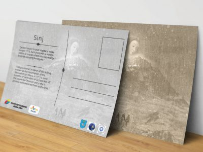 Postcard design for the Sinj Tourist Board